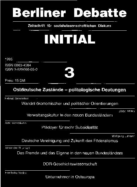 Coverbild von  Ostdeutsche Zustände - politologische Deutungen