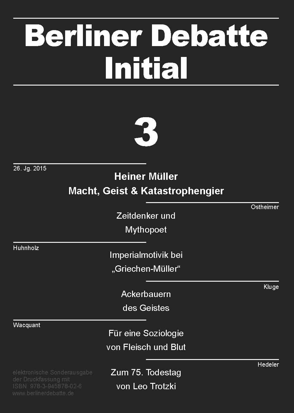 Coverbild von  Heiner Müller: Macht, Geist & Katastrophengier