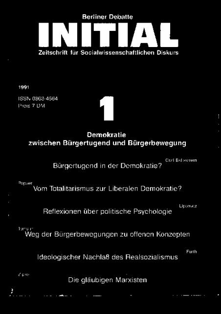 Cover von Demokratie zwischen Bürgertugend und Bürgerbewegung
