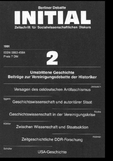 Cover von Umstrittene Geschichte. Beiträge zur Vereinigungsdebatte der Historiker