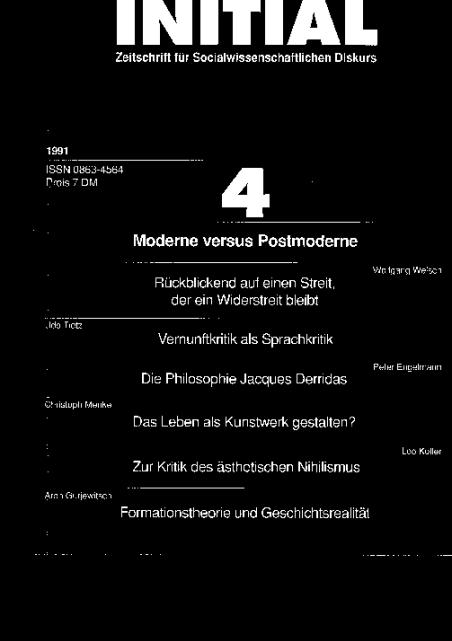 Cover von Moderne versus Postmoderne