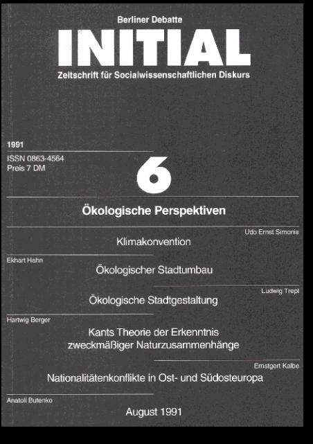 Cover von Ökologische Perspektiven