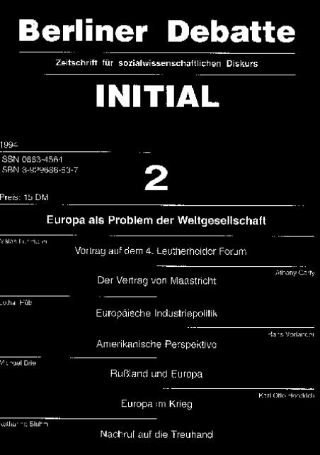 Cover von Europa als Problem der Weltgesellschaft
