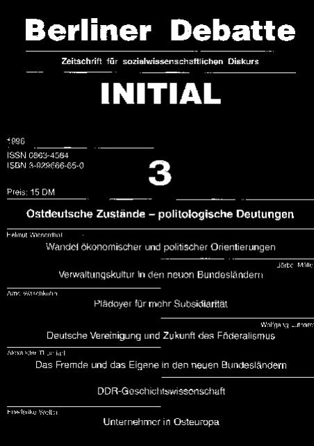 Cover von Ostdeutsche Zustände - politologische Deutungen