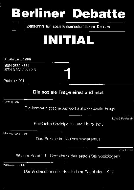 Cover von Die soziale Frage einst und jetzt