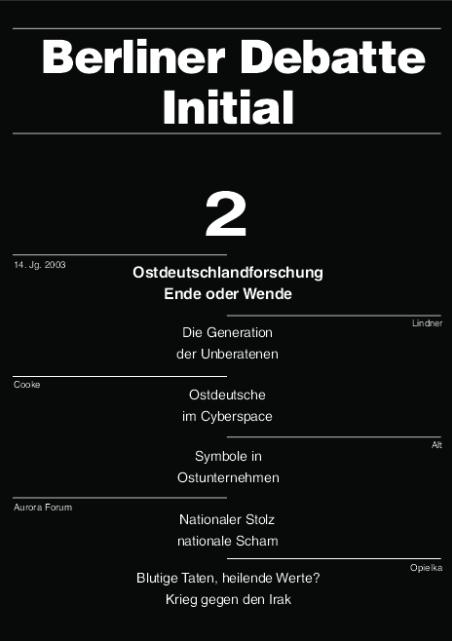 Cover von Ostdeutschlandforschung Wende oder Ende