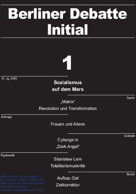Cover von Sozialismus auf dem Mars