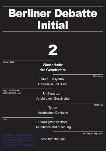 Cover von Wiederkehr der Geschichte