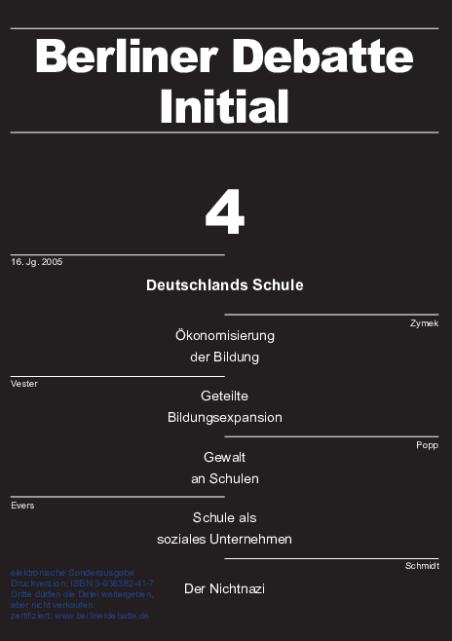 Cover von Deutschlands Schule