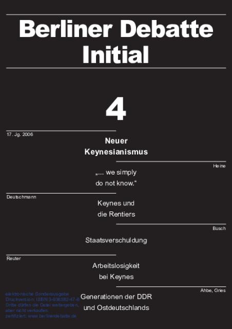 Cover von Neuer Keynesianismus