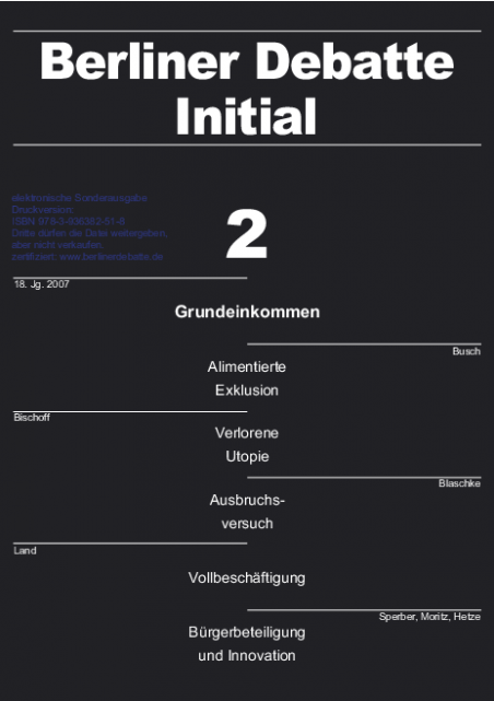 Cover von Grundeinkommen