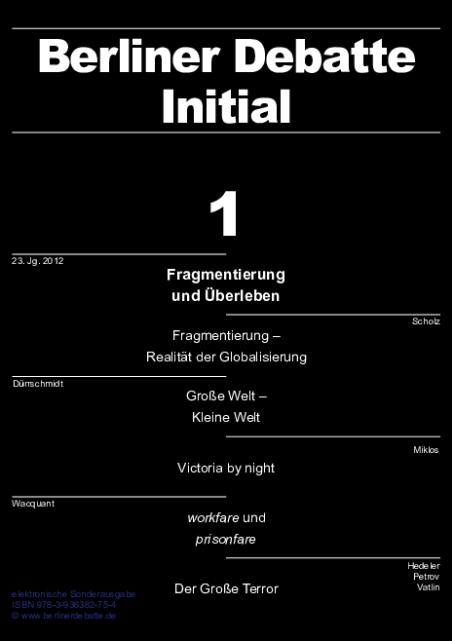 Cover von Fragmentierung und Überleben