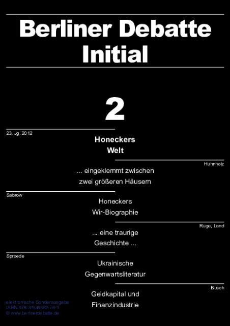 Cover von Honeckers Welt