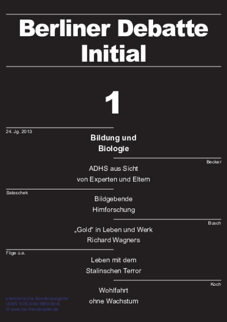Cover von Bildung und Biologie