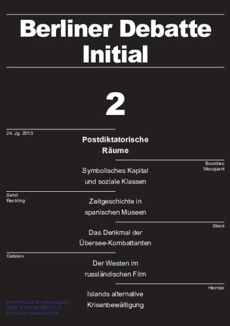 Cover von Postdiktatorische Räume